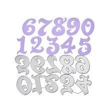 Naifumodo Dies Numbers Letters Metal Cutting for DIY Scrapbooking Card Album Embossing Die Cut New Template