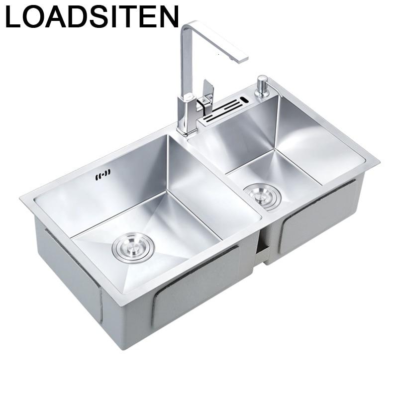 Portatil Lavandino Evier Inox Gootsteen Cocina De Acero Inoxidable Kitchen Fregadero Lavabo Cuba Pia Cozinha Dishwash Sink