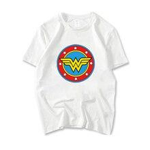 Summer Casual Short-sleeve T Shirt For Girls Wonder Woman Printed Short Sleeve T-shirt Unisex Fashion Tshirt Women Cotton Tees