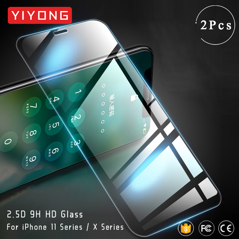 YIYONG HD Clear Tempered Glass For iPhone 11 Pro Max Screen Protector For Apple iPhone X XR XS Max X S iPhone11 Pro Max 11 Glass