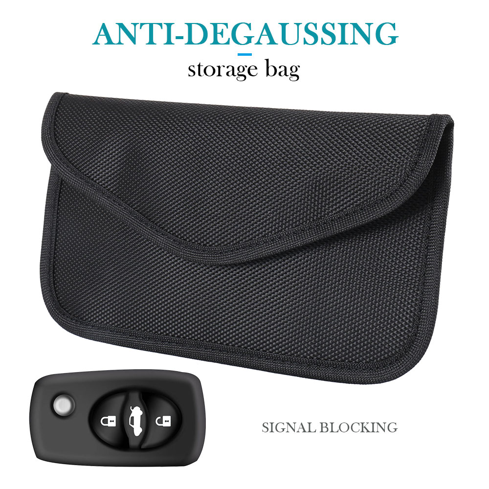 Car Signal Blocker Key Phone Card Shielding Cover Protector Faraday Bag Case Auto Interior Accessories