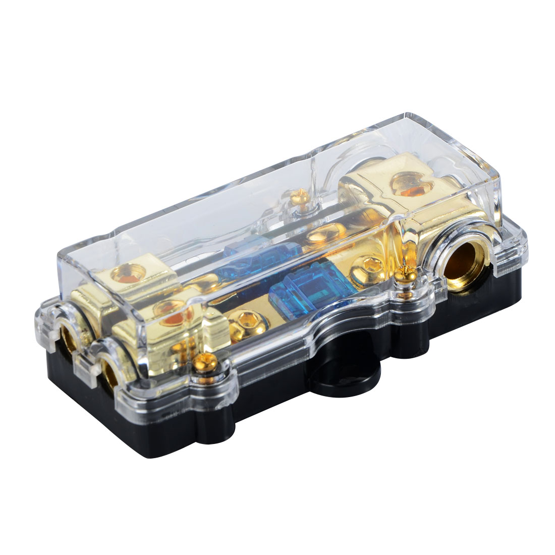 1PCS Universal Car Auto Audio Amplifier Mini 1 in 2 ways Out <font><b>60A</b></font> <font><b>Fuse</b></font> <font><b>Holder</b></font> <font><b>Fuse</b></font> Box Professional spare parts image
