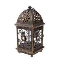 Candelabro Floral para colgar, linterna, vela, soporte para lámpara, decoración para el hogar, fiesta de boda