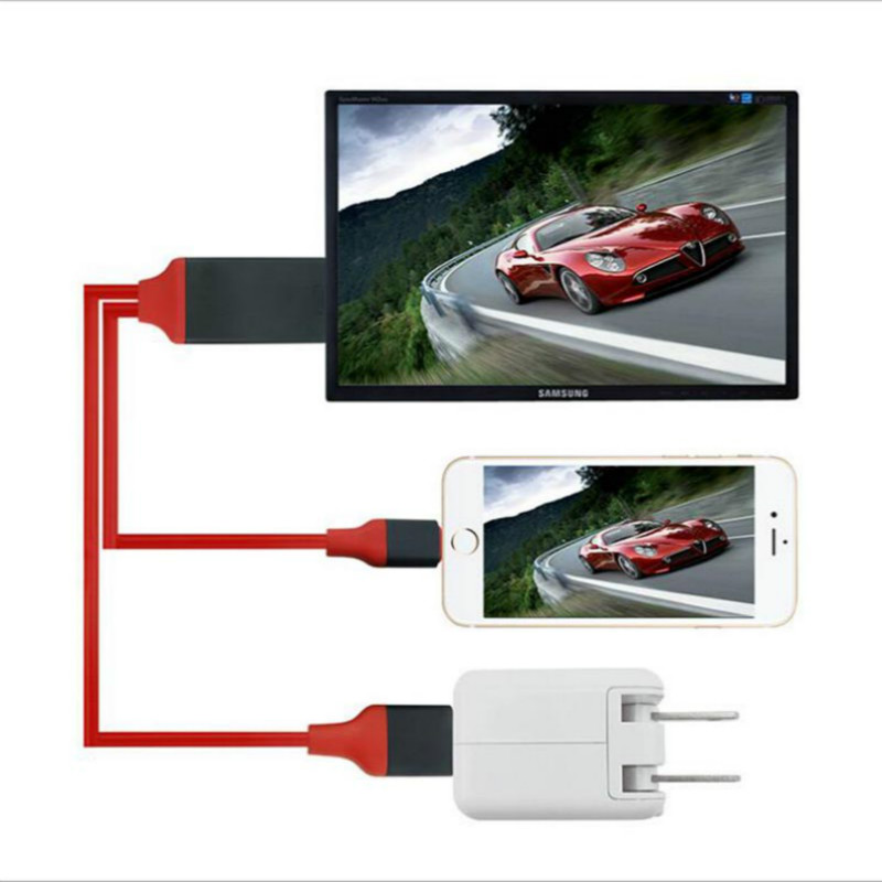 Tela Espelhamento TV Vara TV Cabo HDMI para USB TV 1080P HD para iphone 6s plus iphone 7 7 além de ipad