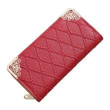 Длинный кошелек, женские кошельки, модный дизайнерский, с тиснением, Lingge, кошелек, для девушек, милый клатч, кошелек, мульти-карта, кошелек, Portefeuille