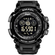 Digital Watches Waterproof SMAEL Watches Men Sport relogio masculino Military Clock Men Digital LED 8018 Smart Bluetooth Watches cheap 23inch Plastic Buckle 5Bar Digital Wristwatches 54mm Rubber 17mm Hardlex Complete Calendar Shock Resistant Stop Watch LED display