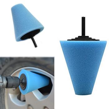 Burnishing Foam Sponge Polishing Pad Car Polisher Tyres Tool Wheel Machine Cone-shape Disk Wheel Wheel Hub Polishing Hubs W0T5 image