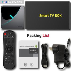Image 5 - A95X F3 Air 6 RGB Light TV Box Android 9.0 Amlogic S905X3 4K 60fps 4GB 64GB Dual Wifi 4K 60fps Smart TV A95XF3