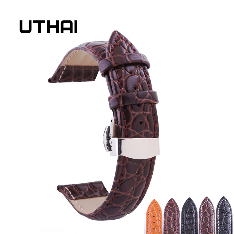 UTHAI B03 Watchband 18mm 19mm 20mm 21mm 22mm 24mm Calf Genuine Leather Watch Band