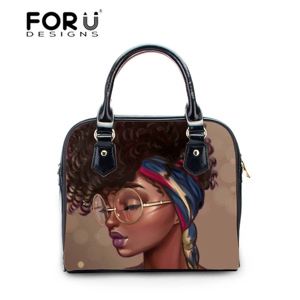 FORUDESIGNS Leather Women Handbags Female Shoulder Bag Designer Luxury Lady Tote Large Capacity African Hand Bags for Women 2019