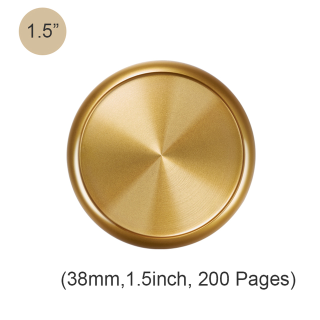 Fromthenon 11 Pieces of Metallic Discs for Disc Bound Notebook Mushroom Hole Disc Binding Ring H Planner Binder Accessories