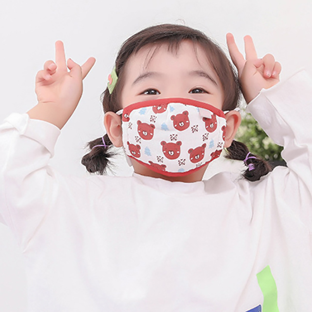 Pm2.5 Children Warm Cotton Anti Dust Mouth Mask Activated Carbon Filter Windproof Mouth Bacteria Face Masks Professional M7