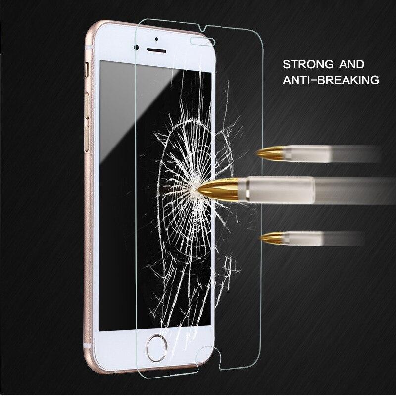 SWANDA 0,26mm ultra tenký chránič obrazovky z tvrzeného skla pro iPhone 6 6s 5 5S SE 7 8 7pl 9H tvrzený ochranný film