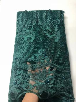 New Design African Lace Fabric 2020 High Quality Lace French Fabric Beaded Nigerian Swiss Lace Fabrics For Dress FJU22