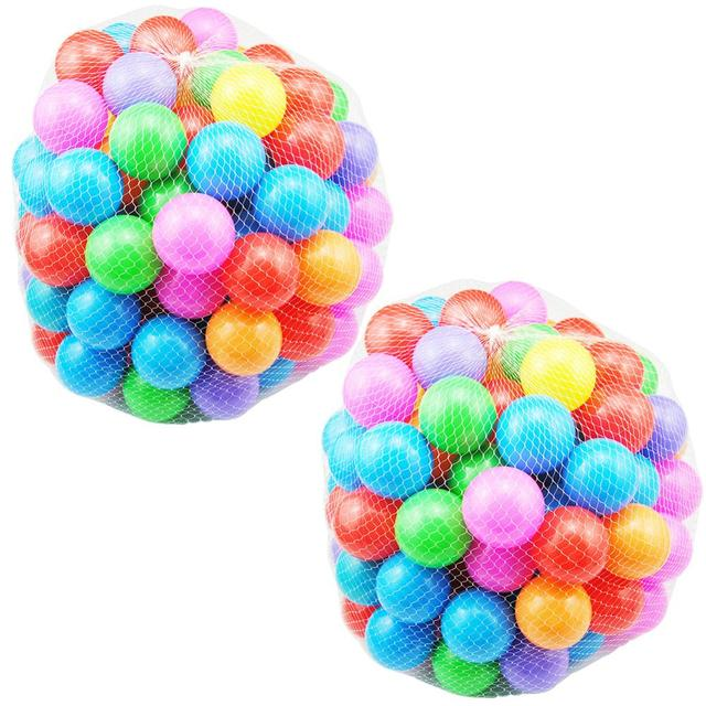 50/100/200pc Baby Color Ocean Balls for Swimming Pool Childrens Swimming Toys PlastIc Ball Pit For Play House Outdoors Tents