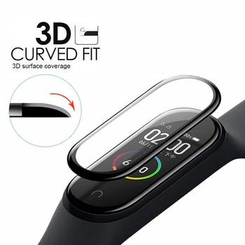 100PCS 3D Soft Screen Protector For Xiaomi Mi Band 4 Smartwatch Miband 4 Full Cover Protective Film (No Tempered Glass)