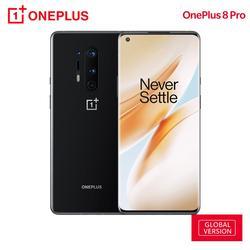 Смартфон OnePlus 8 Pro, глобальная версия, 8 Гб 128 ГБ, Snapdragon 865, 6,78 дюйма, 120 Гц, жидкокристаллический AMOLED дисплей 3168x1440, 4510 мАч, 30 Вт, NFC