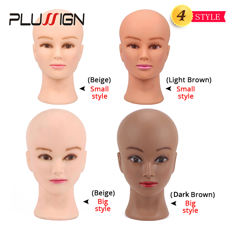 Image 2 - 2020 Newest Top Manikin Head With Display Stand Wig Foam Block Head Dark Brown Color For Black People Making Wigs 20.5InchWig Stands   -