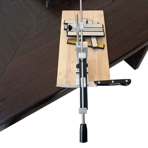 Image 3 - سكين مبراة المهنية درجة أكبر أحدث المحمولة 360 درجة دوران كليب قمة حافة حافة نظام KME 1 الماس حجر
