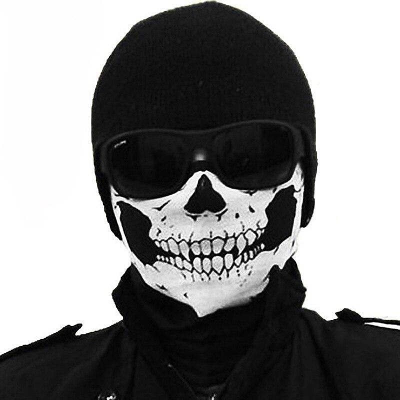 1 Pcs Outdoors Sport Ski Cycling Face Mask Skull Bandana Helmet Neck Bike Face Mask Thermal Scarf Halloween Headband Scarves