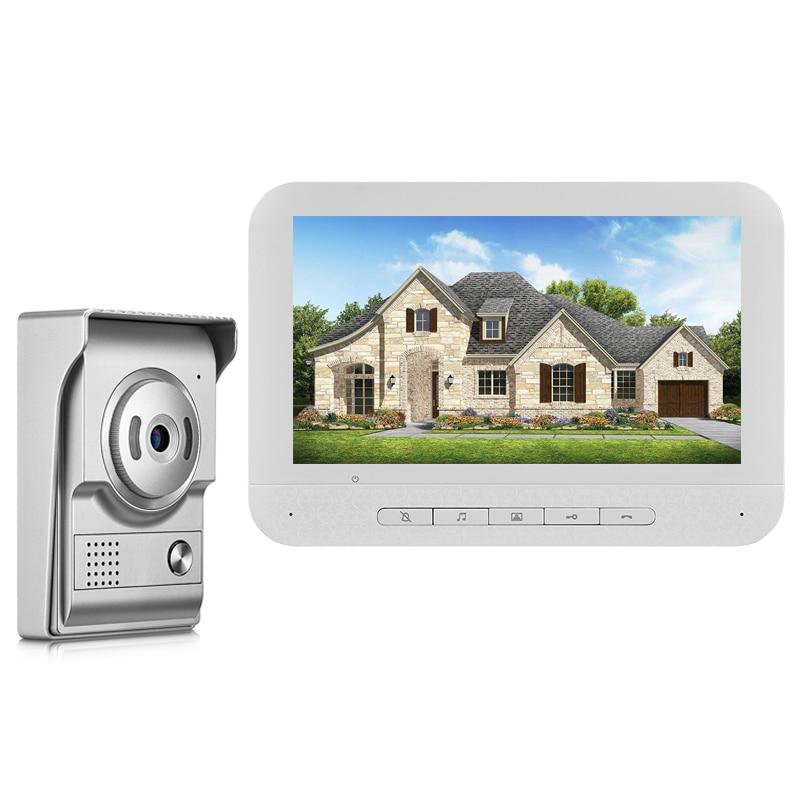 "Video Doorbell Door Phone 7"" Color Screen with Waterproof Outdoor Camera Two-way Audio Night Vision for Home Intercom System"