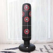 Engrossar digital bullseye impressão fitness pesado saco de boxe inflável luta torre a0ka