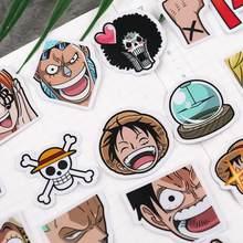 40 pcs/pack cool Anime une pièce Luffy autocollants pour voiture sac à dos pour ordinateur portable maison décalcomanie Pad vélo décalcomanie classique jouets autocollant cadeau