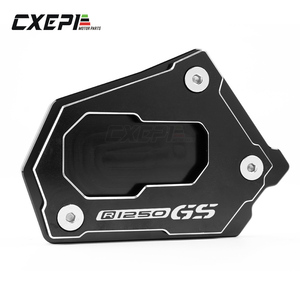 Image 2 - LOGO R1250GS For BMW R1250GS R1250 GS R1250GS R 1250GS HP 2018 Motorcycle CNC Side Stand Enlarge Extension Kickstand Accessories