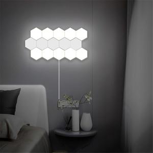Image 3 - Nordic Ha Condotto La Luce di Notte Loft Britannico Creativo a Nido Dape Modulare Assemblea di Tocco di Notte Della Lampada Quantum Lampada Magnetica Luci Notturne