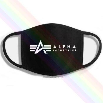 Alpha Industries-mascarilla de boca en algodón reutilizable, lavable, con estampado clásico, color...