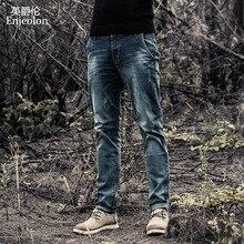 Enjeolon thương hiệu người đàn ông denim jeans dài quần jeans nam quần cotton mens jeans quần nam giới denim quan hệ nhân quả quần jean quần áo K6003