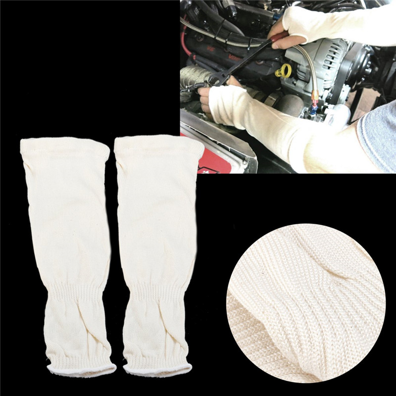 1 Pair Welding Protection Sleeves Cutting Resistant Flame Resistant Heat Protective Welding Lengthen Arm Sleeves Denim Working