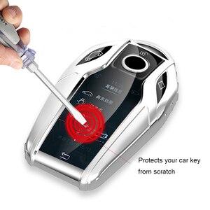 Image 5 - TPU Caso Display LED Totalmente Chave Do Carro Chave do Caso Da Tampa para BMW 5 7 série G11 G12 G30 G31 G32 i8 I12 I15 G01 X3 G02 X4 G05 X5 G07 X7