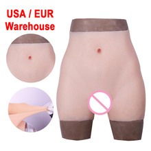 Silicone Realistic Vagina Panties Shemale Crossdresser Pussy Pants Transgender Artificial Sex Fake  Underwear Enhancer Hip