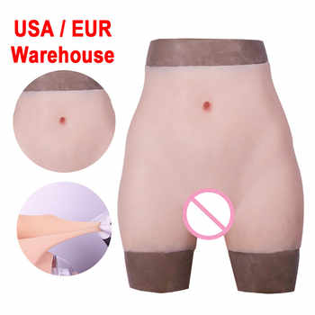 Silicone Realistic Vagina Panties Shemale Crossdresser Pussy Pants Transgender Artificial Sex Fake  Underwear Enhancer Hip - DISCOUNT ITEM  53% OFF All Category