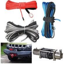 Cuerda de cabrestante sintético para ATV UTV, Cable de línea todoterreno con envoltura de remolque gris, mantenimiento de rescate de coche, 15m, 7700 libras, nuevo