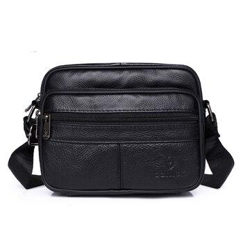 Men's Genuine Leather Shoulder Bag Messenger Bags Men's Bag 2020 Fashion Flap Crossbody Handbag Male Leather Shoulder Bags KSK