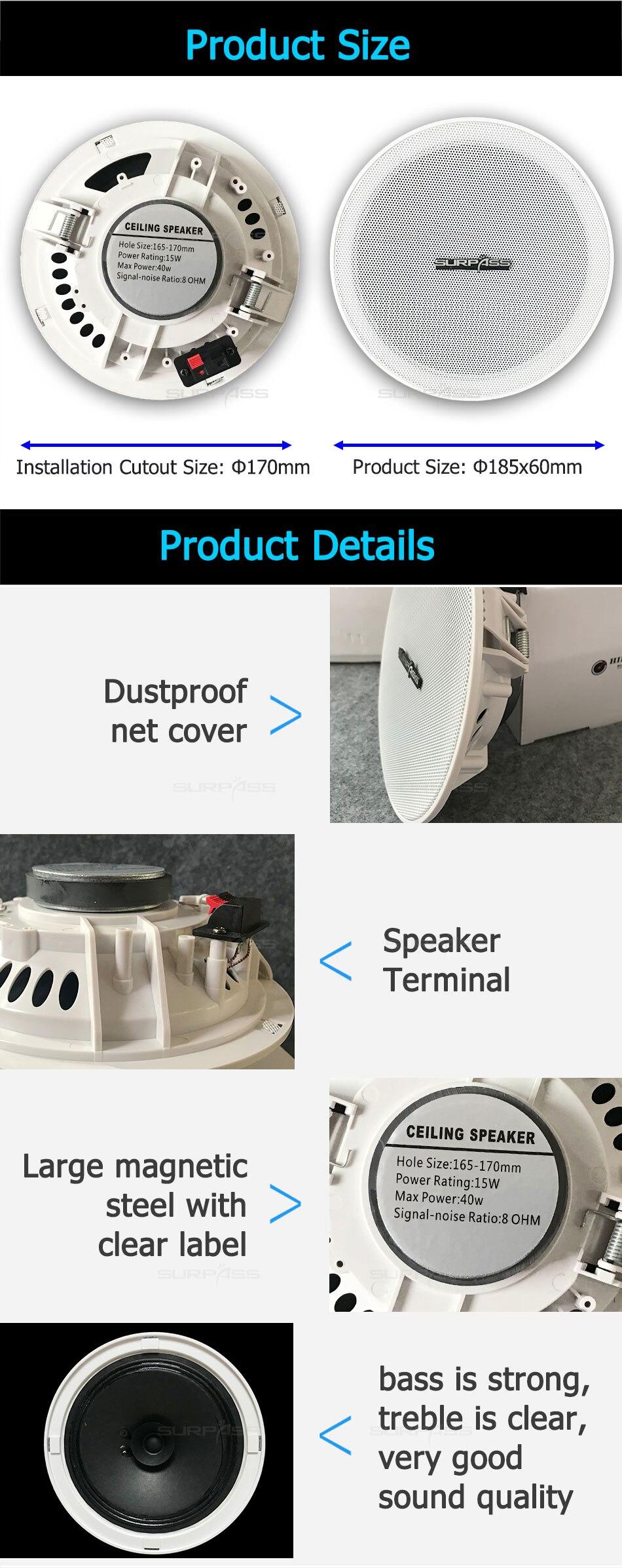 Tanpa Bingkai Sempit 6 Dual Cone Ceiling Speaker Public Address System Instalasi Suara Musik Speaker Di Dinding Pemutar Audio Public Address System Instalasi Suara Aliexpress