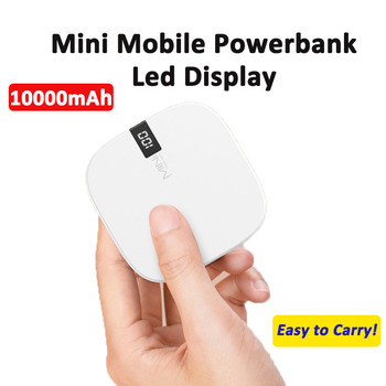Mini 10000mAh Power bank For iPhone 11 Samsung LED Display External Battery Powerbank For Xiaomi Mi9 HUAWEI Portable Poverbank image