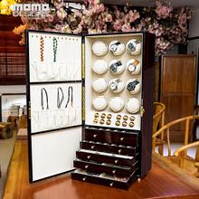 Pokrętło zegarka szafka 12 automatyczny zegarek uzwojenia pole i witryna biżuterii luksusowe organizator kolekcja tanie tanio MOMODESIGNS 21cm Zegarek nawijarki 38cm 1205W EBONY GLOSS Nowy bez tagów 23000g 83cm