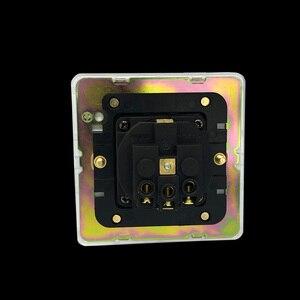Image 4 - LIWBET ab standart duvar soket ve beyaz renk paslanmaz çelik Panel soketi