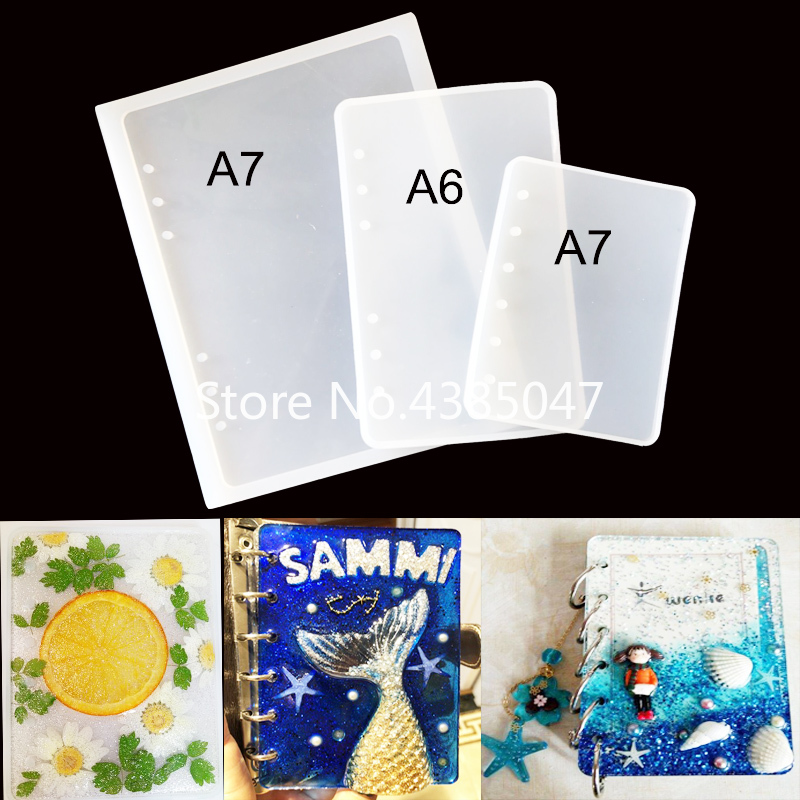1PC A5 A6 A7 Notebook DIY Handcraft Mold Expoxy Tools Resin Molds For Jewelry