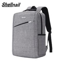 Shellnail حقيبة لابتوب دفتر حقيبة 15.6 حقيبة لاب توب رجالي حقائب ظهر حقيبة حاسوب حقيبة أعمال سفر bagpack حقائب مكياج