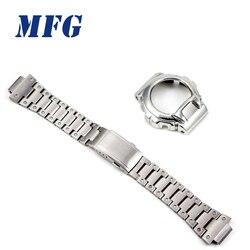 DW6900 металлический корпус для часов из нержавеющей стали, ремешок для часов, рамка для часов, аксессуар для браслета с инструментом для ремон...