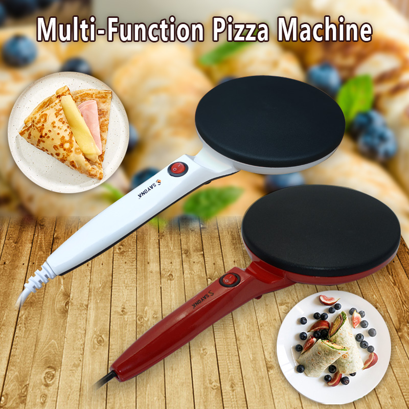 EU Electric Crepe Pizza Pancake Machine Non-Stick Baking Plate Pan Cake Machine Baking Pie Making Kitchen Cooking Tools
