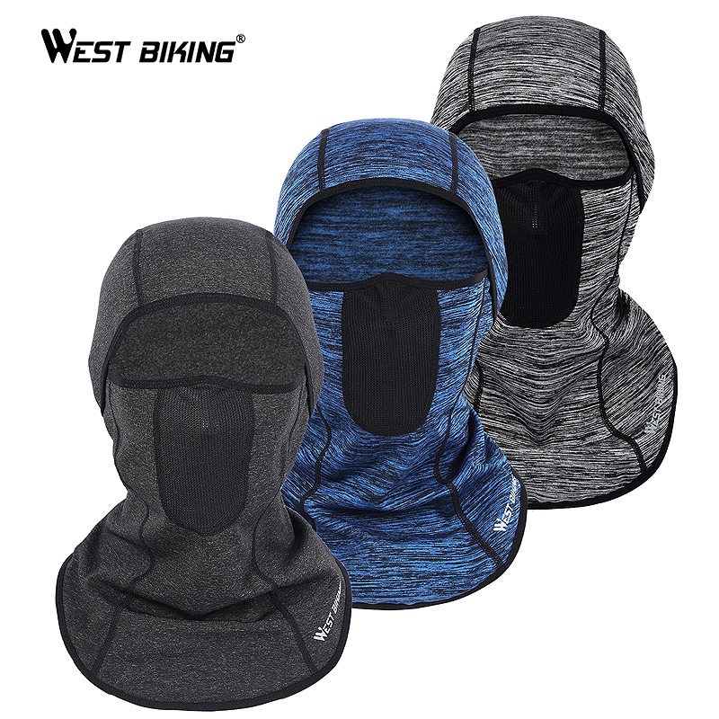 Winter Thermal Ski Mask Mesh Venting Hole Windproof Cycling Cap Scarf Headwear Bicycle Balaclava Fishing Running Bike Face Mask