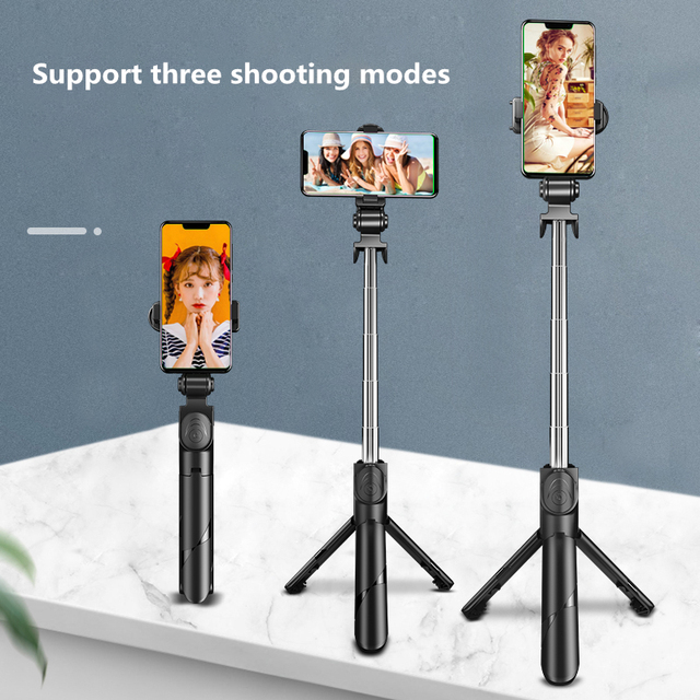 2021 NEW Bluetooth Wireless Selfie Stick Mini Tripod Extendable Monopod with fill light Remote shutter For IOS Android phone 6