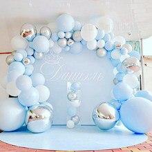DIY Ballon Bogen Girlande kit Blau Silber Weiß Luftballons für Braut Dusche Baby, Hochzeit, Geburtstag, Graduation Party