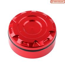 цена на Universal Motorcycle Rear Brake Fluid Reservoir Cap Cover Oil Cup For Honda Suzuki Kawasaki BMW Triumph Ducati etc CNC Al