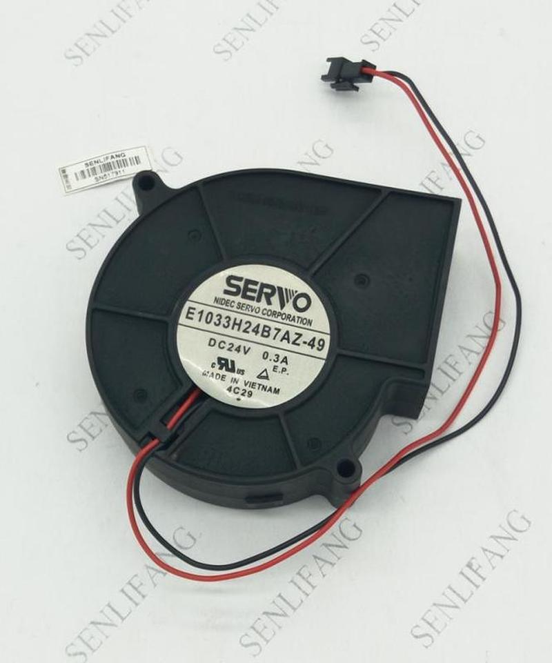Free Shipping For Servo E1033H24B7AZ-49 24V 0.3A 97*33mm 2pin Blower Cooling Fan
